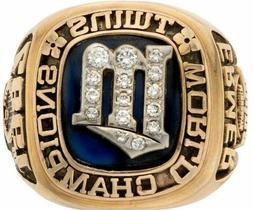 1987 Minnesota Twins Baseball World Series Ring Presented to