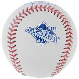 1991 World Series Rawlings MLB Official Game Baseball Minnes