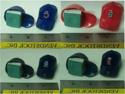 2 MLB BASEBALL GUMBALL HAT CAPS CHALK HOLDERS FOR BILLIARDS