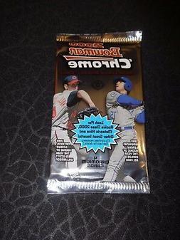 2000 Bowman Chrome Baseball Hobby Pack  Fresh from Box!