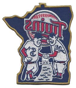 New 2015 Minnesota Twins Shaking Hands State Jersey Sleeve P
