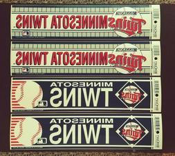 4 vintage minnesota twins bumper sticker lot