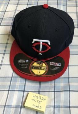 7 1/2 Minnesota Twins Cap Hat Road New Era 59Fifty Game Fitt