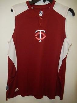 "9506-13 Womens Majestic MINNESOTA TWINS ""Sleeveless"" Basebal"