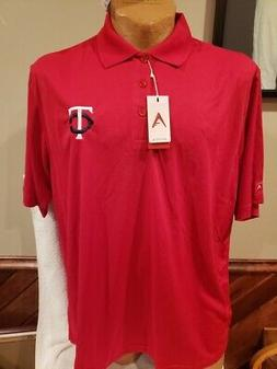 BEAUTIFUL Minnesota Twins Men's Sz XL Red Antigua Polo Dress