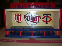Minnesota Twins Bobble Head Display Case with T & M  Ball lo