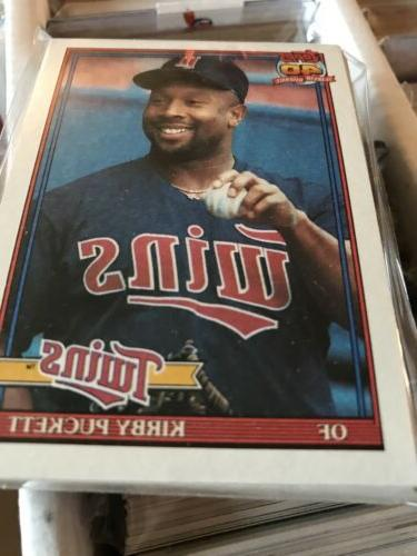 1991 topps baseball card team packs minnesota