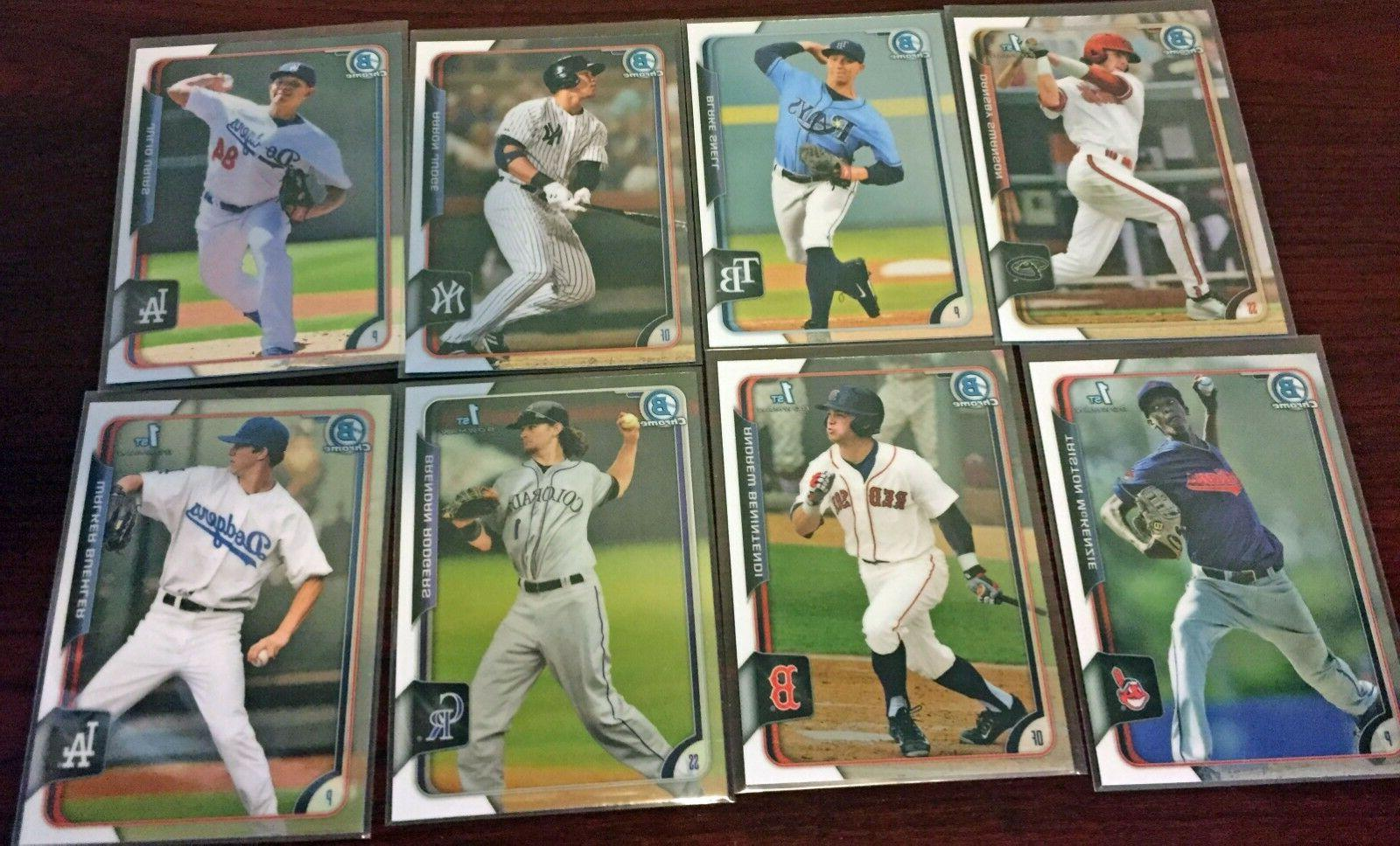 2015 bowman chrome draft 3 card lots