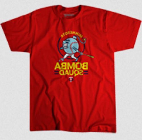 2019 minnesota twins bomba squad t shirt