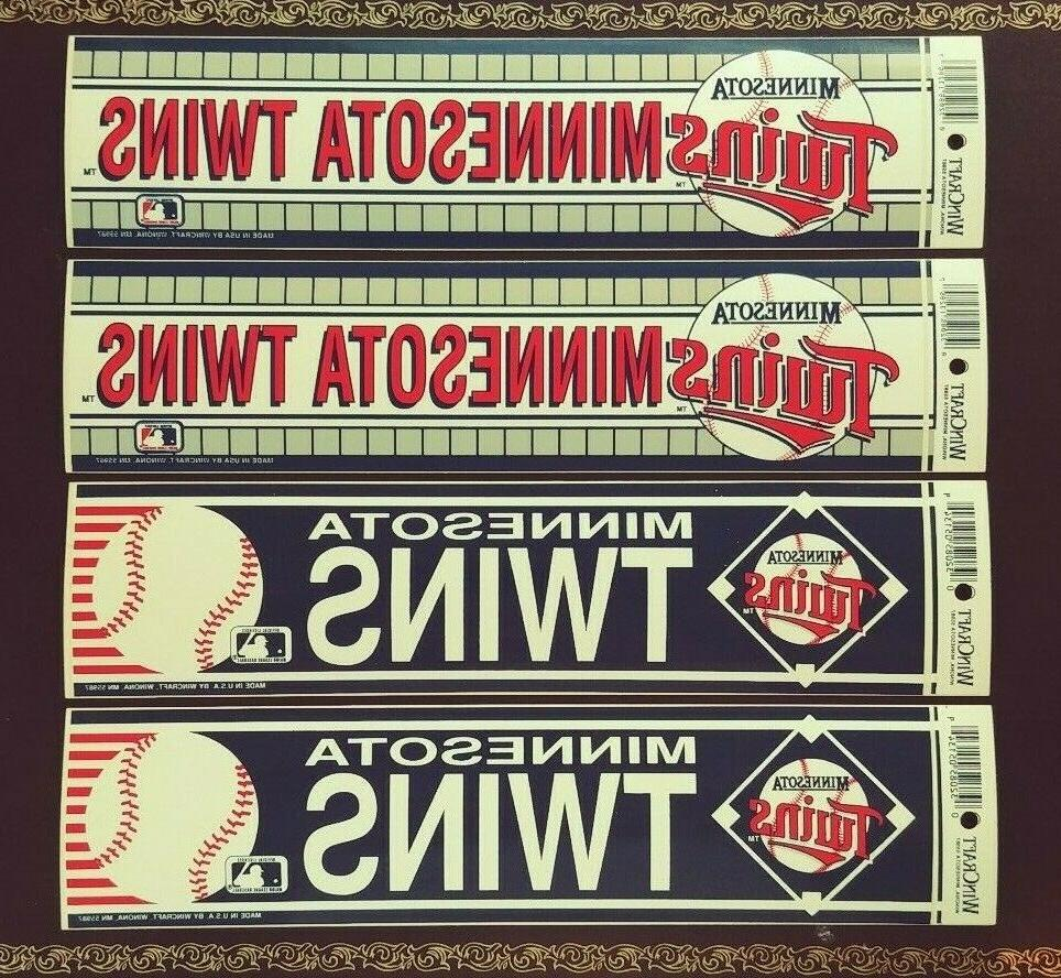 "4 MINNESOTA BUMPER STICKER LOT by WinCraft Old Stock 13X3"""