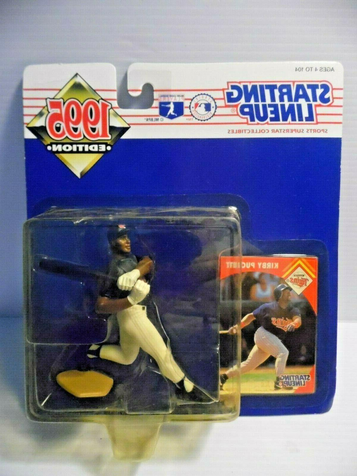 kirby puckett 1995 starting lineup slu minnesota