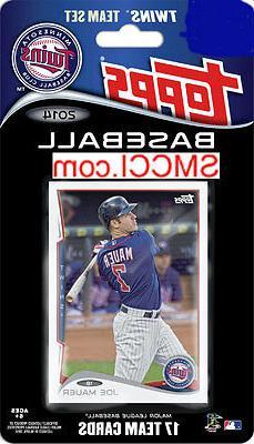 Minnesota Twins 2014 Topps Factory Sealed Team Set Joe Mauer