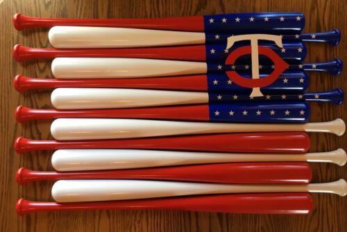 minnesota twins custom baseball bat american flag