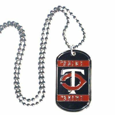 Minnesota Twins Metal Tag Necklace MLB Licensed Baseball Jew