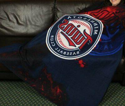 minnesota twins mlb baseball fleece throw blanket