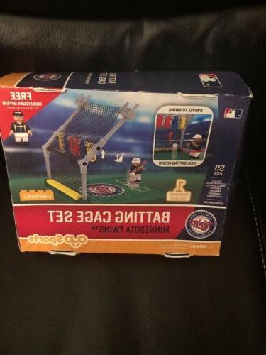 minnesota twins sports toys batting cage set