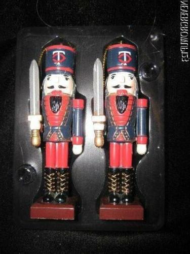 mlb minnesota twins 4 wooden nutcracker ornaments