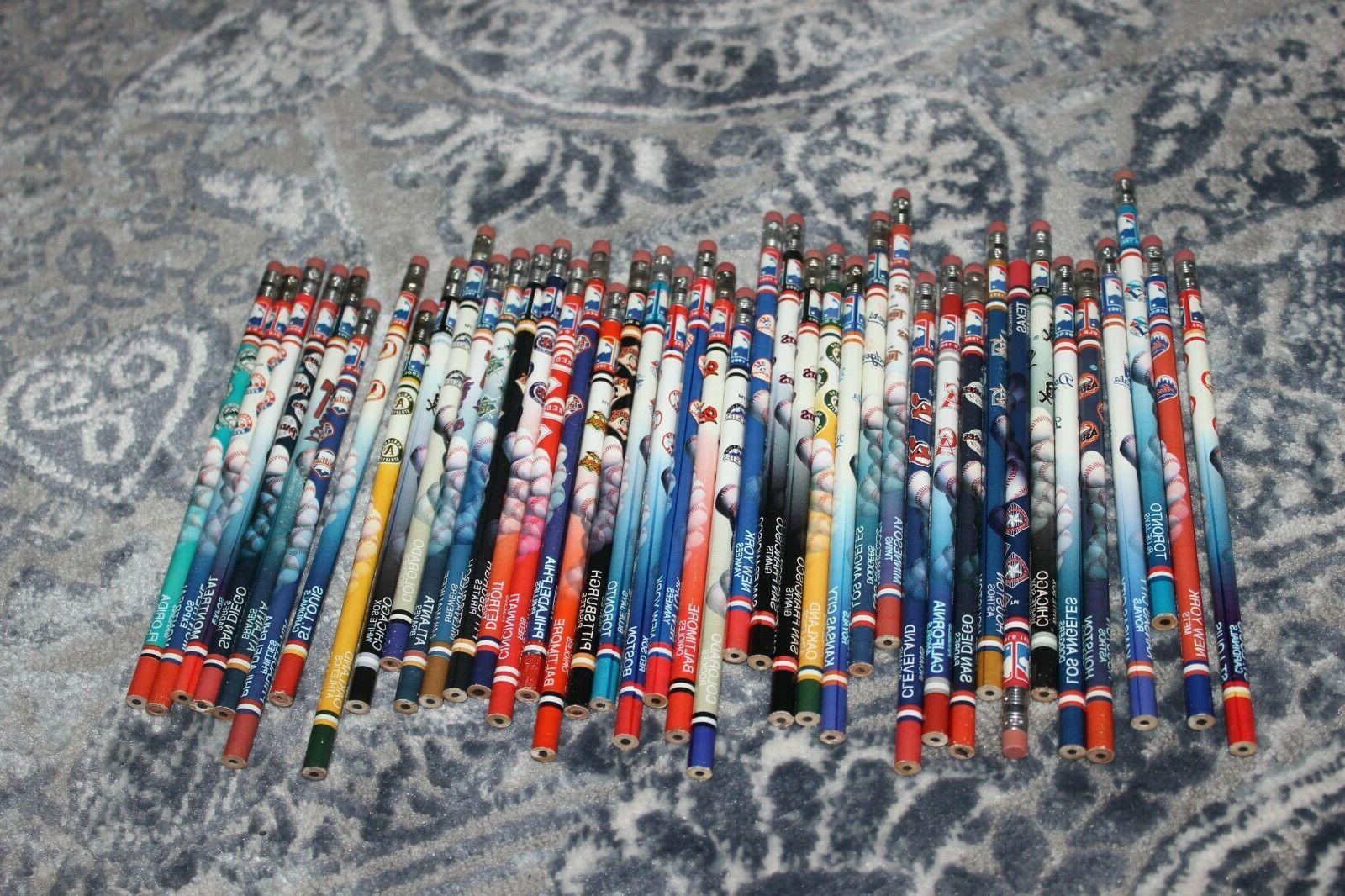 mlb team pencils 1993 1995 vintage free