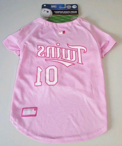 pink minnesota twins pet jersey dog size
