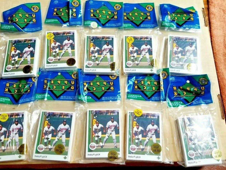sealed 10 packs 1989 upper deck minnesota