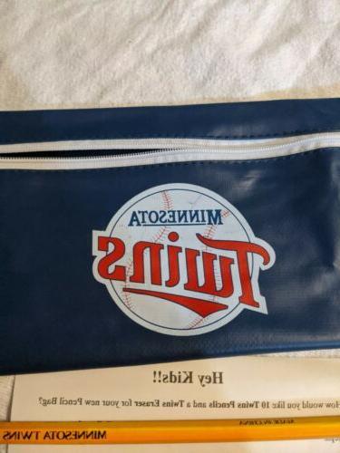 Vintage Minnesota Twins MLB Henri's Salad Zipper Pouch