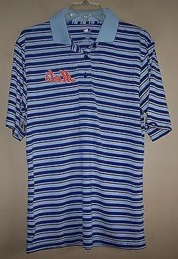 Men's Blue Gray Striped NEW YORK METS Golf Polo Shirt MLB ME