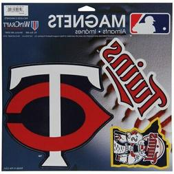 "WinCraft Minnesota Twins 11"" X 11"" 3-pack Car Magnets"