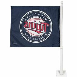 "Minnesota Twins 11"" x 15"" Navy Blue Car Flag"