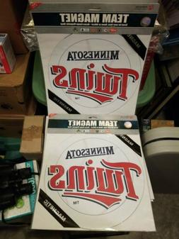 "Minnesota Twins 12"" Car Team Magnet Auto Emblem Set of 2  PL"