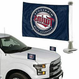 Minnesota Twins 2-Pack Ambassador Style Auto Flag Car Banner