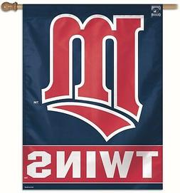 """MINNESOTA TWINS 27""""X37"""" COOPERSTOWN COLLECTION HOUSE FLAG OR"""