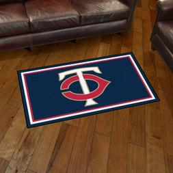 Minnesota Twins 3' X 5' Decorative Ultra Plush Carpet Area R