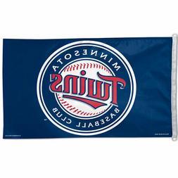 MINNESOTA TWINS 3'X5' HOUSE FLAG WALL BANNER MLB LICENSED US