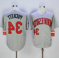 minnesota twins 34 kirby puckett grey 1987