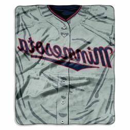 Minnesota Twins 50x60 Plush Raschel Throw Blanket - Jersey D