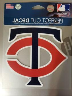 Minnesota Twins 6x6Perfect Cut Car Decal  MLB Auto Sticker E