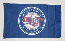 Minnesota Twins Banner 3x5 Ft Flag Baseball MLB Wall Decor M