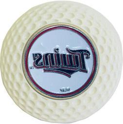 MINNESOTA TWINS BASEBALL METAL POKER CHIP WHITE W/GOLF BALL