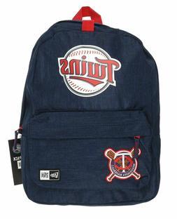 Minnesota Twins New Era Blue Heritage Patch Backpack