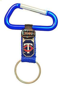 Minnesota Twins Clip-on Carabiner MLB Logo Key Chain
