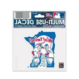 """MINNESOTA TWINS COOPERSTOWN COLLECTION 3""""X4"""" MULTI-USE DECAL"""
