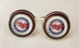 Minnesota Twins Cuff Links made from Baseball Trading Cards
