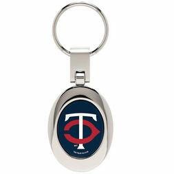 Minnesota Twins Domed Metal Keychain MLB Keyring New