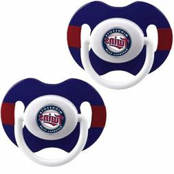 Minnesota Twins Dual Pack Baby Pacifiers