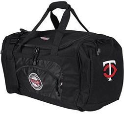 Minnesota Twins Duffel Bag Premium Embroidered Black Heavy D