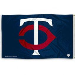 MINNESOTA TWINS FLAG 3'X5' MLB TC LOGO BANNER: FAST FREE SHI