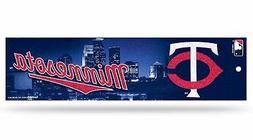 MInnesota Twins Glitter Bumper Sticker  MLB Auto Car Truck D