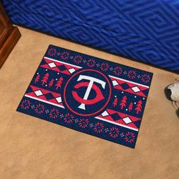"Minnesota Twins Holiday Sweater Design 19"" X 30"" Starter Are"