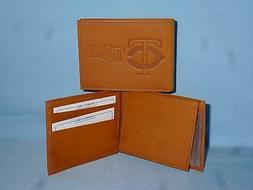 MINNESOTA TWINS   Leather BiFold Wallet   NEW   tan