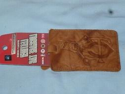 MINNESOTA TWINS   Leather Luggage Tag     by Rico   NWT